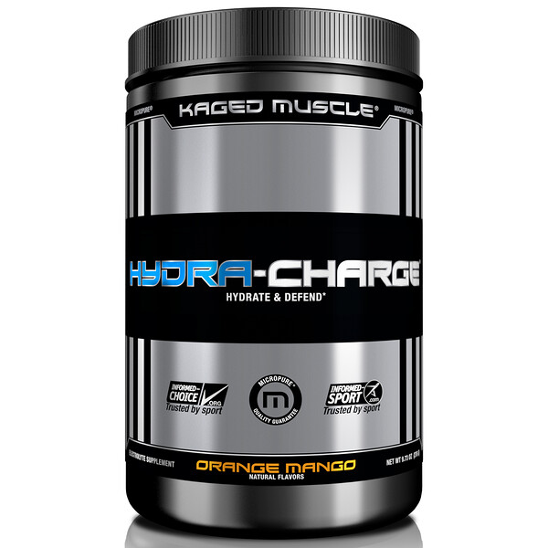 Kaged Muscle, Hydra-Charge, Orange Mango, 9.73 oz (276 g)