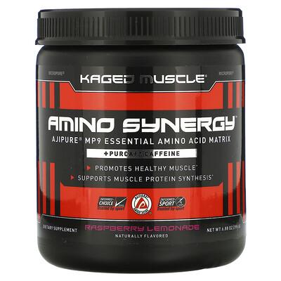 Kaged Muscle Amino Synergy, Raspberry Lemonade, 6.88 oz (195 g)