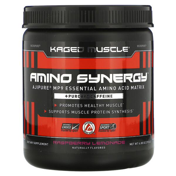 Kaged Muscle, Amino Synergy, Raspberry Lemonade, 6.88 oz (195 g)