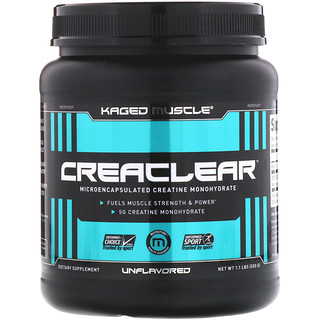 Kaged Muscle, Creaclear, Unflavored, 1.1 lb (500 g)