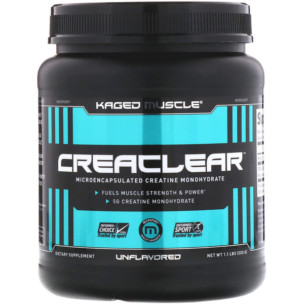 Kaged Muscle, Creaclear, без ароматизаторов, 1,1 ф. (500 г)