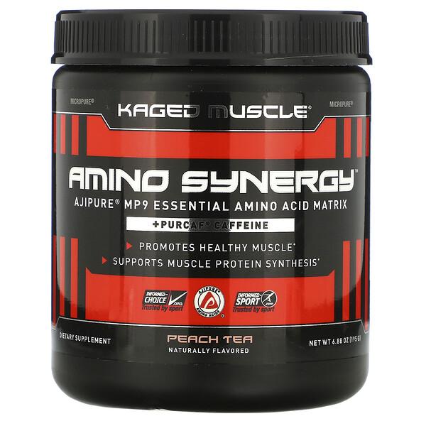 Amino Synergy, Peach Tea, 6.88 oz (195 g)