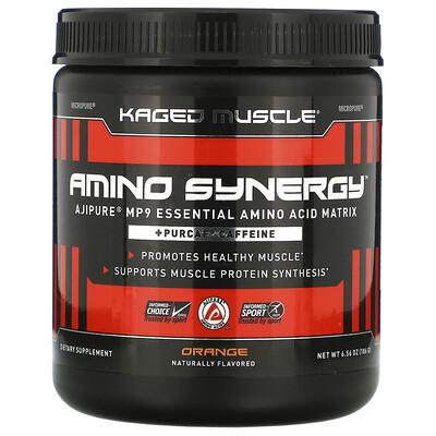 Купить Kaged Muscle Amino Synergy, Orange, 6.56 oz (186 g)