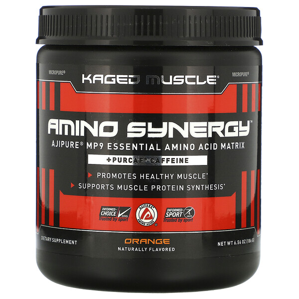 Amino Synergy, Orange, 6.56 oz (186 g)