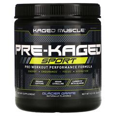 Kaged Muscle, PRE-KAGED Sport,鍛煉前表現配方,冰涼葡萄味,9.31 盎司(264 克)