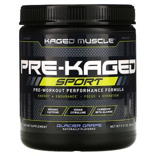 Kaged Muscle, PRE-KAGED Sport, Pre-Workout Performance Formula, Glacier Grape, 9.31 oz (264 g)