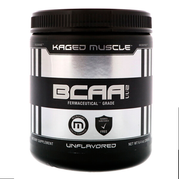 Kaged Muscle, BCAA 2:1:1, Unflavored, 6.4 oz (200 g)  (Discontinued Item)