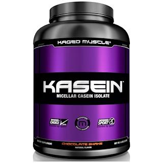 Kaged Muscle, Kasein、ミゼルカゼインアイソレート、チョコレートシェイク、4 ポンド (1.8 kg)