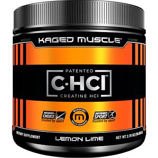 Kaged Muscle, 特許取得済 C-HCL クレアチン、レモンライム、2.70オンス (76.425 g)