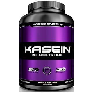 Kaged Muscle, Kasein, Micellar Casein Isolate, Vanilla Shake, 4 lbs (1.8 kg)