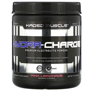 Kaged Muscle, Hydra-Charge, Premium Electrolyte Powder, Pink Lemonade, 9.73 oz (276 g)