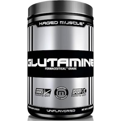 Купить Kaged Muscle Глутамин, без ароматизаторов, 1, 1 фунта (500 г)