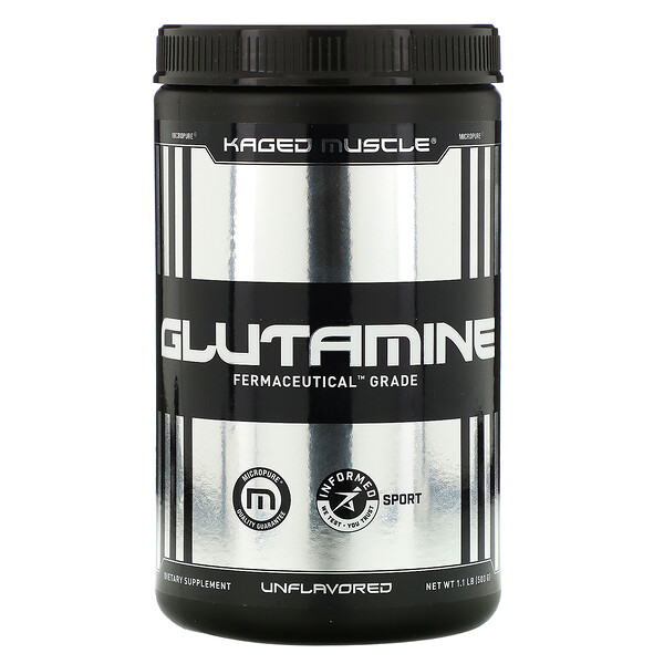 Glutamine, Unflavored, 1.1 lbs (500 g)
