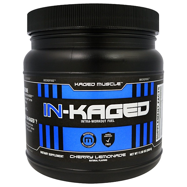 Kaged Muscle, In-Kaged Intra-Workout Fuel, Cherry Lemonade, 11.92 oz (338 g)