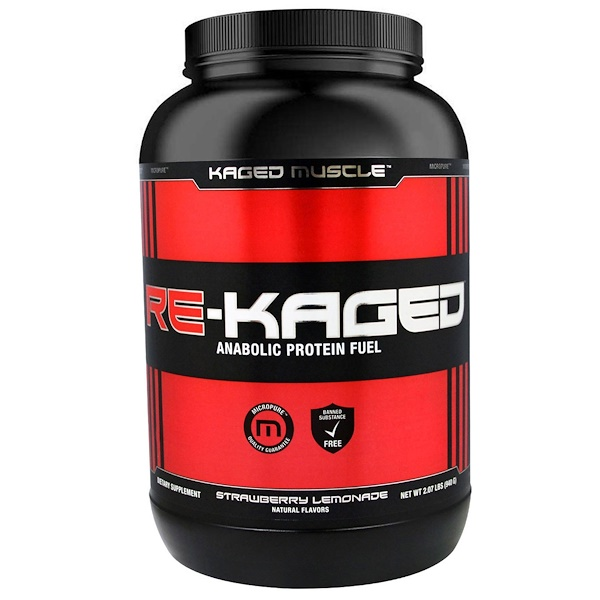 Kaged Muscle, Re-Kaged, Anabolic Protein Fuel, Strawberry Lemonade, 2.07 lbs (940 g)