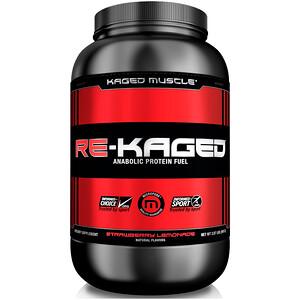 Кагетмускле, Re-Kaged, Anabolic Protein Fuel, Strawberry Lemonade, 2.07 lbs (940 g) отзывы покупателей