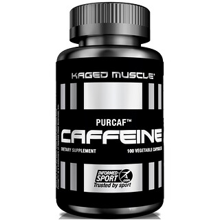 Kaged Muscle, PurCaf, Caffeine, 100 Veggie Caps