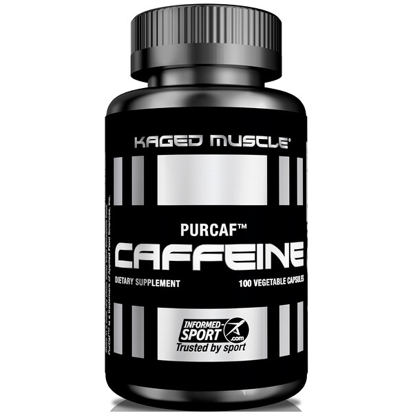 Kaged Muscle, PurCaf, Caffeine, 100 Vegetable Capsules