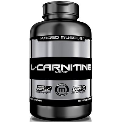 L-Carnitine, 250 Vegetable Capsules l карнитин sport technology nutrition l carnitine guarana 0 5 л