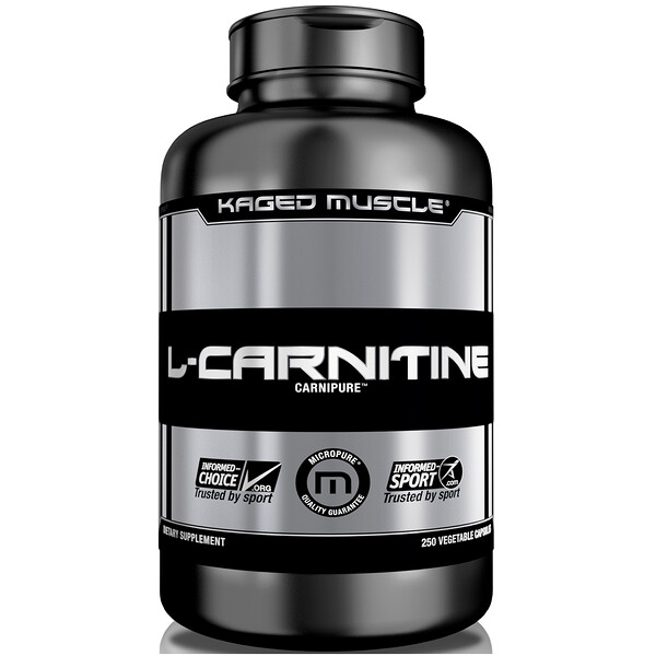 L-Carnitine, 250 Vegetable Capsules