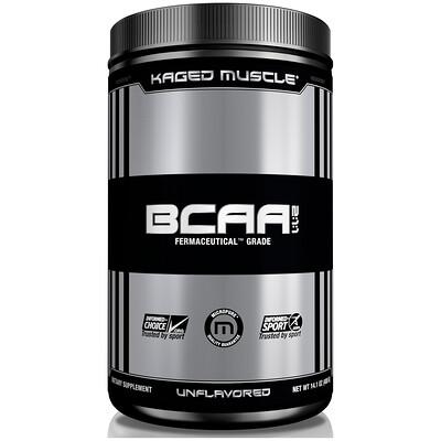 Купить Kaged Muscle Аминокислоты с разветвленными боковыми цепями (BCAA) в соотношении 2:1:1, без ароматизаторов, 14, 1 унции (400 г)