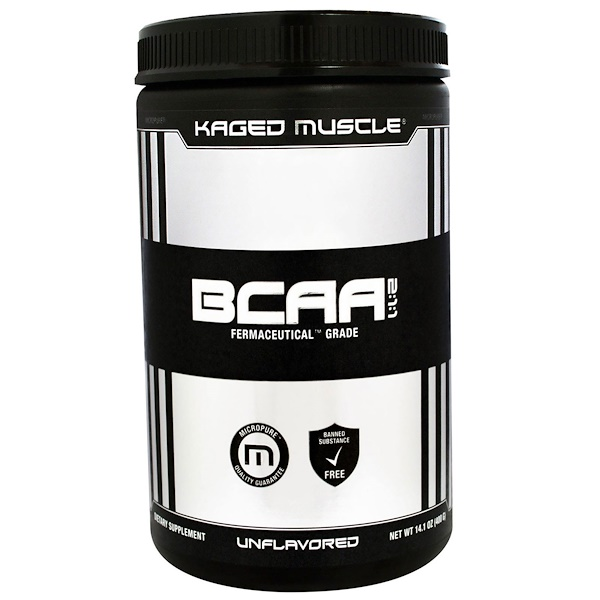 Kaged Muscle, BCAA 2:1:1, Unflavored, 14.1 oz (400 g)