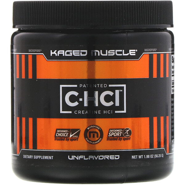 Patented C-HCI, Creatine HCI, Unflavored, 1.98 oz (56.25 g)