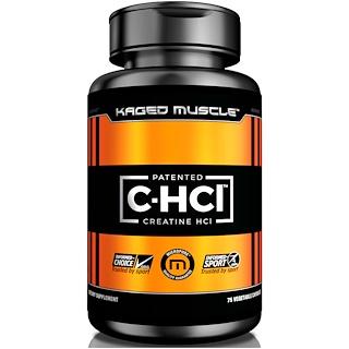 Kaged Muscle, Патентованная пищевая добавка, креатина гидрохлорид, 75 капсул в растительной оболочке
