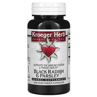 Kroeger Herb Co, Black Radish & Parsley, 100 Vegetarian Capsules