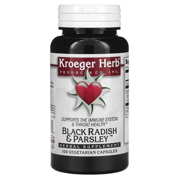 Black Radish & Parsley, 100 Vegetarian Capsules