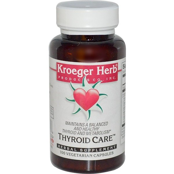 Kroeger Herb Co, Thyroid Care, 100 Veggie Caps
