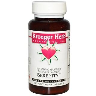 Kroeger Herb Co, Serenity, 100 Veggie Caps