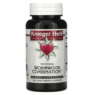 Kroeger Herb Co, Wormwood Combination, La combinación original de ajenjo, 100cápsulas vegetales