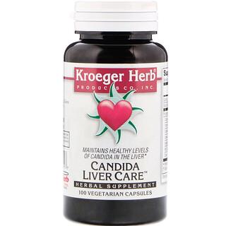Kroeger Herb Co, Candida Liver Care, 100 Vegetarian Capsules