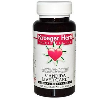 Kroeger Herb Co, Candida Liver Care, 100 Veggie Caps