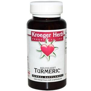 Кроегер Херб Ко, Turmeric, 100 Vegetarian Capsules отзывы