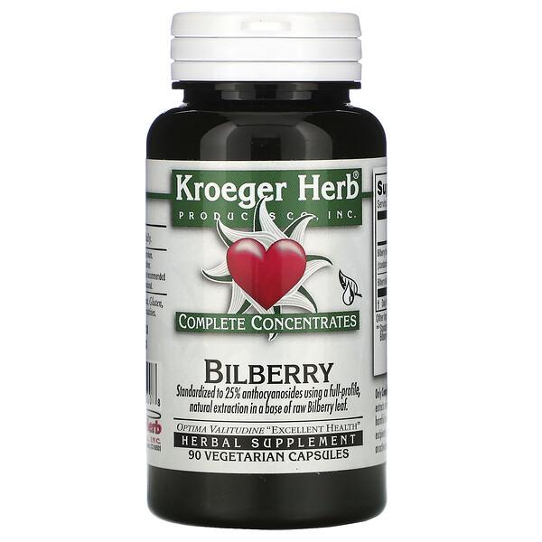 Bilberry, 90 Vegetarian Capsules
