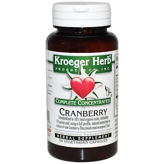 Kroeger Herb Co, Complete Concentrates, Cranberry, 90 Veggie Caps