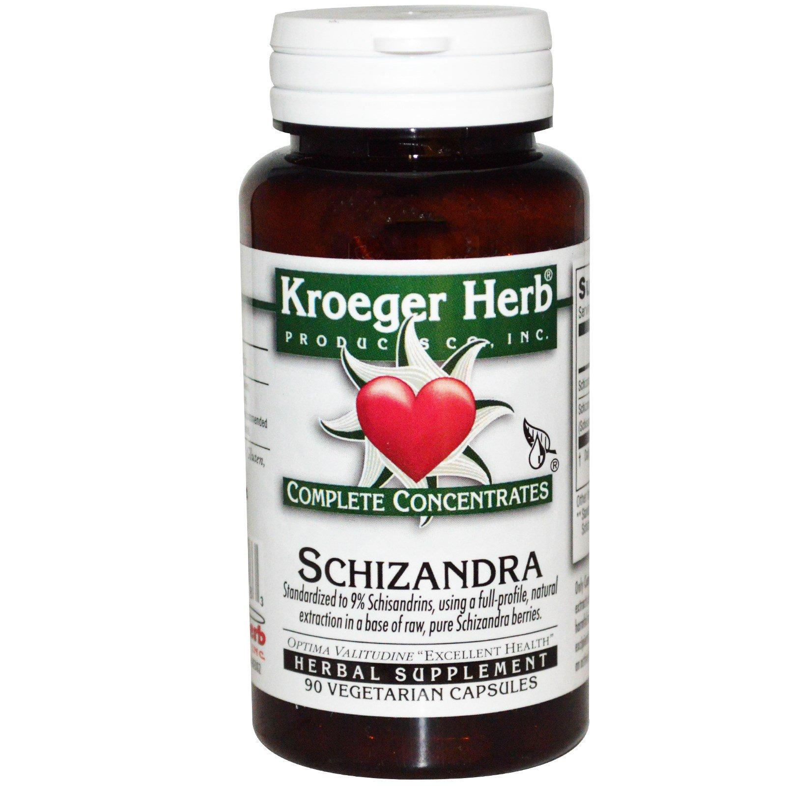 Kroeger Herb Co, Совершенные концентраты, китайский лимонник, 90 вегетарианских капсул
