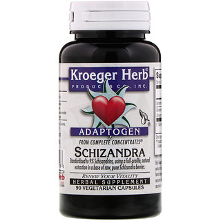 Kroeger Herb Co, مركزات كاملة، شيزندرة، 90 كبسولة نباتيه