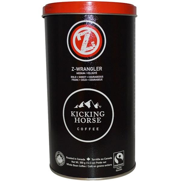 Kicking Horse, Z- Wrangler, Кофе в зернах, средней обжарки 12.3 унции (350 г) (Discontinued Item)