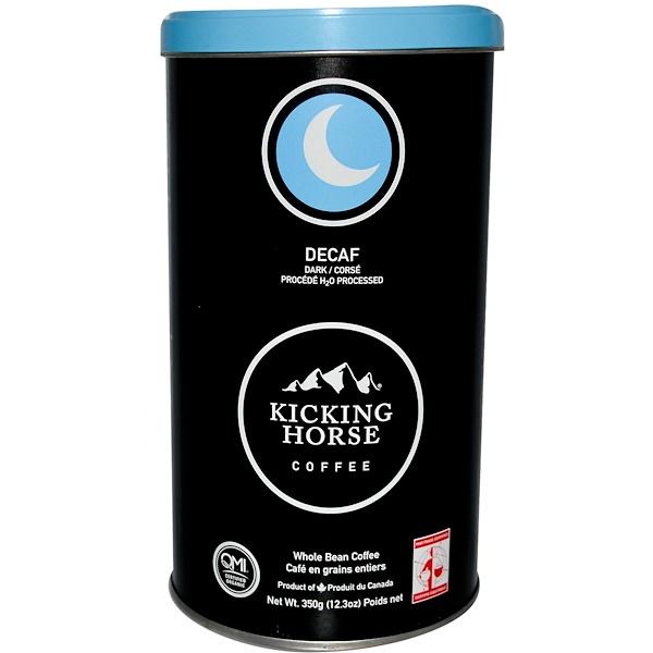 Kicking Horse, Темный кофе без кофеина, в зернах 12.3 унции (350 г) (Discontinued Item)