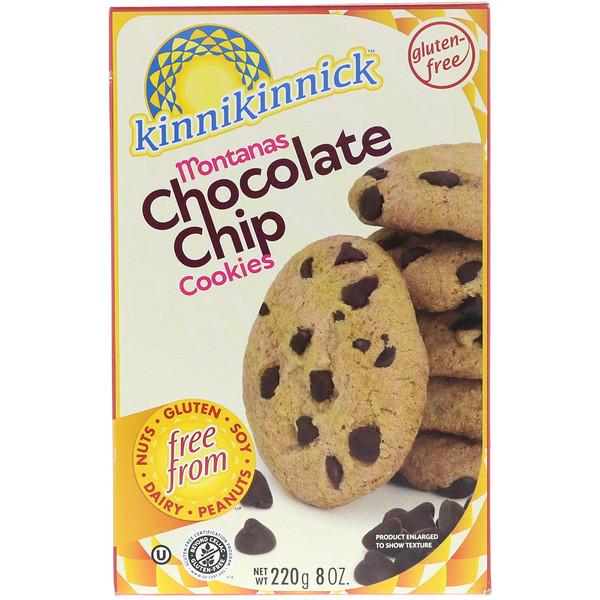 Kinnikinnick Foods, モンタナズ・チョコレートチップクッキー,  8 オンス (220 g)