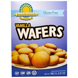 Kinnikinnick Foods, Gluten Free Vanilla Wafers, 6.3 oz (180g)