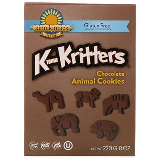 Kinnikinnick Foods, KinniKritters, Chocolate Animal Cookies, 8 oz (220 g)