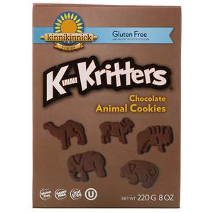 Кинникинник фудс, KinniKritters, Chocolate Animal Cookies, 8 oz (220 g) отзывы