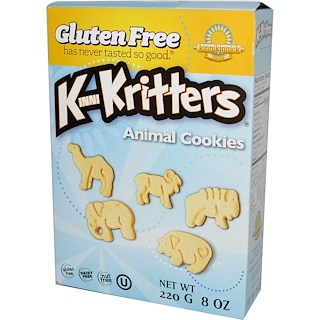 Kinnikinnick Foods, KinniKritters, Animal Cookies, 8 oz (220 g)