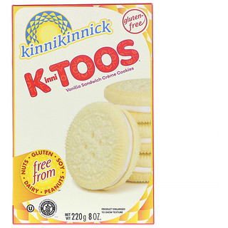 Kinnikinnick Foods, KinniToos, ванильное печенье с сэндвичем и сливками, 8 унций (220 г)