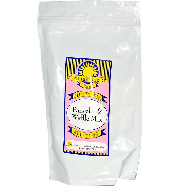 Kinnikinnick Foods, Gluten Free Pancake & Waffle Mix, 23 oz (650 g) (Discontinued Item)
