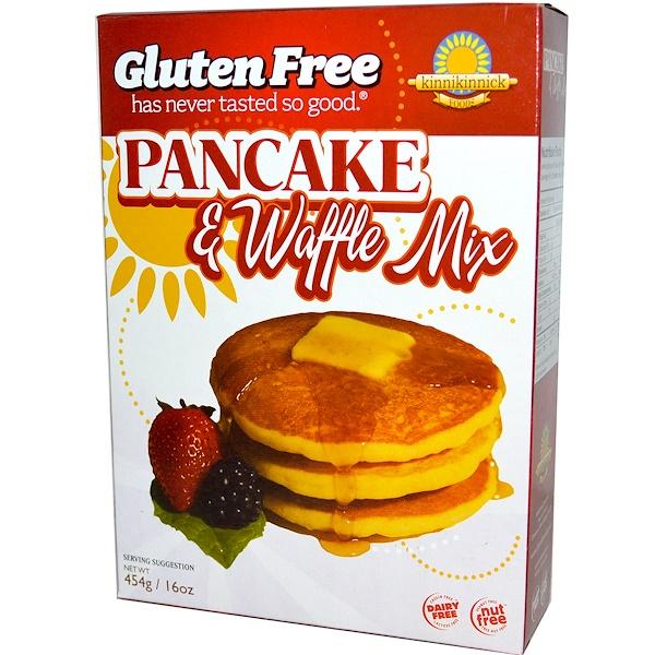 Kinnikinnick Foods, Gluten Free Pancake & Waffle Mix, 16 oz (454 g) (Discontinued Item)